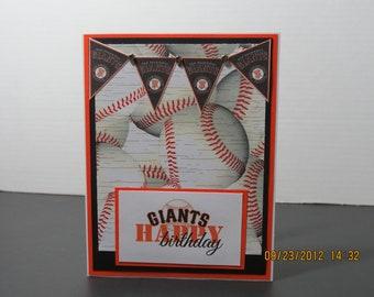 SF Giants Baseball Birthday Card for him