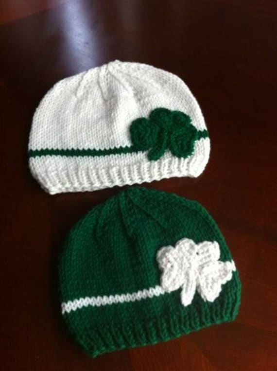 BEST SELLER Irish hats 0 to 24 months any size available / shamrock  hats boys or girls  Ready to ship