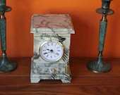 Rustic Decoupaged table clock jewellery box Time Birds