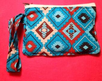 3 Slot Pocket, Zippered Coin Purse, New Design  tribal print