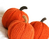 Hand knitted pumpkins fall Halloween thanksgiving