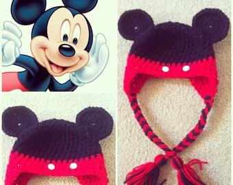 Crochet Mickey Mouse Beanie/Hat