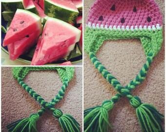 Crochet Watermelon Beanie/Hat