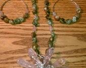 Rose Quartz Nubian Star Necklace Set
