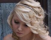 Rhinestone Headband Bridal Headband Wedding Headband Crystal Rhinestone Tiara Jewel Headband Silver Gold - Leah MADE TO ORDER
