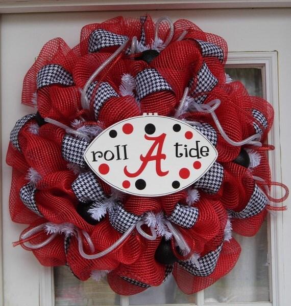 Alabama Wreath Football Wreath Mesh Wreath