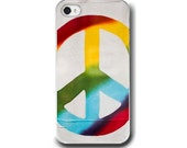 Peace, iPhone 5 4 4s Case, Rainbow Colors, Peace Symbol, Cell Phone Case, Accessory for iPhone 5 4 4s