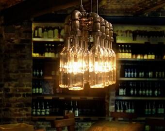 Pendant Light. Wine / Beer bottles. Suspension Lamp.