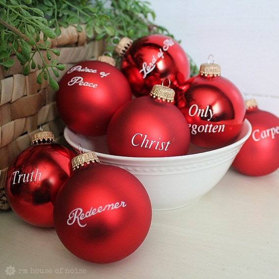 Christmas Decorations With Names On Them: Names Of Christ Vinyl For Christmas Small