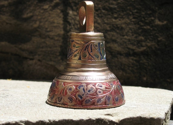 Vintage Indian brass bell - restored