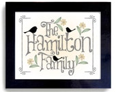 Family Tree Personalized Name House Warming Gift Framed Art