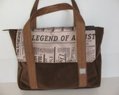 brown handbag, brown messenger bag -  laptop bag, notebook bag, newspaper bag, computer bag