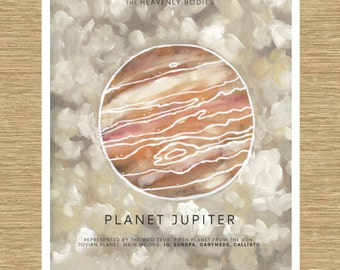 "Jupiter the Gas Giant - Heavenly Bodies Series 11"" x 14"""