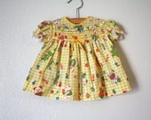 Groovy Yellow Dress, Baby Girls size 3-6 months