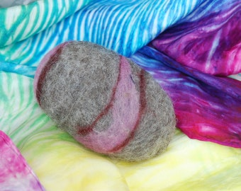Felted Soap Mauve On Gray