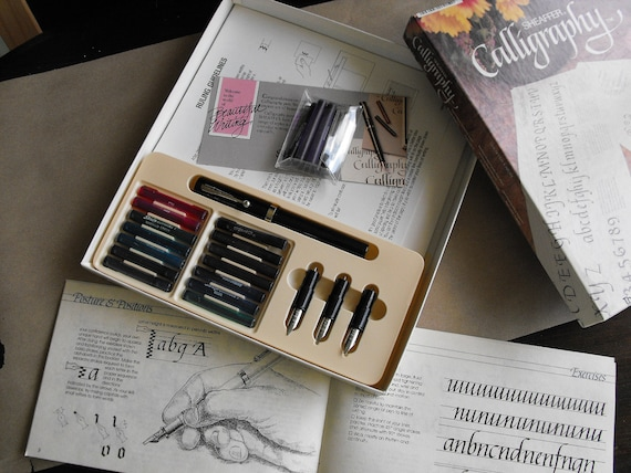 Vintage Calligraphy Pen Set Sheaffer Complete Set