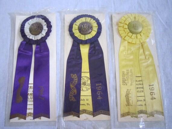 Vintage Dog Show Ribbons AKC