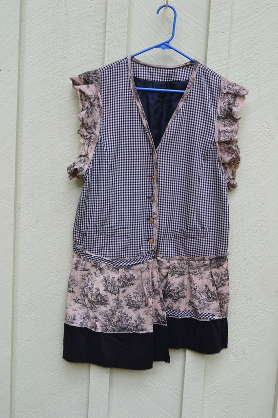 Sailor / Upcycled / Shirt-Tunic / Large / One of a kind by Dvoika