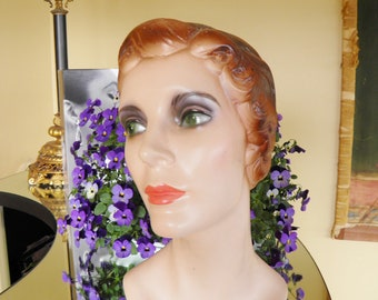 Millinery Head, Lady Hat Display,Bust, Statue