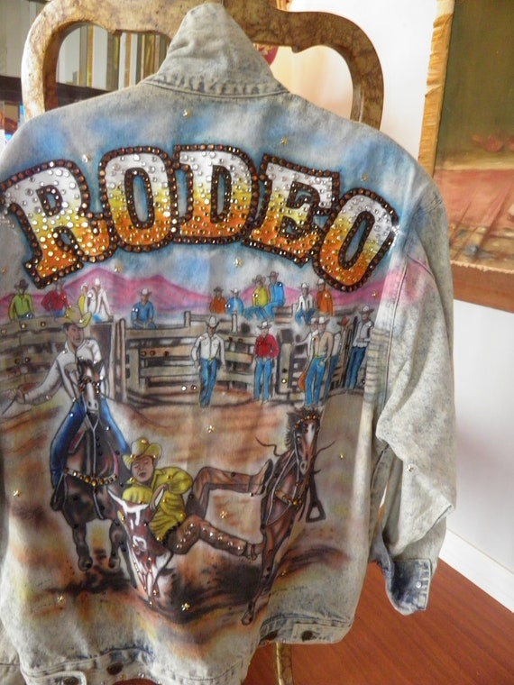 Tony Alamo Rhinestone Denim Jean Jacket Rodeo