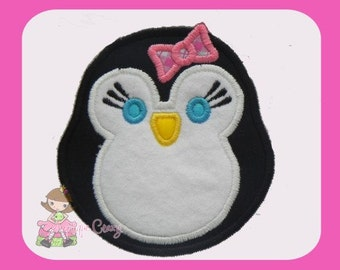 Girly Penguin  Applique design