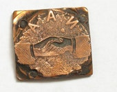 CLEARANCE Vintage Fraternal Brotherhood Etched Copper and Medal Print Block Piece