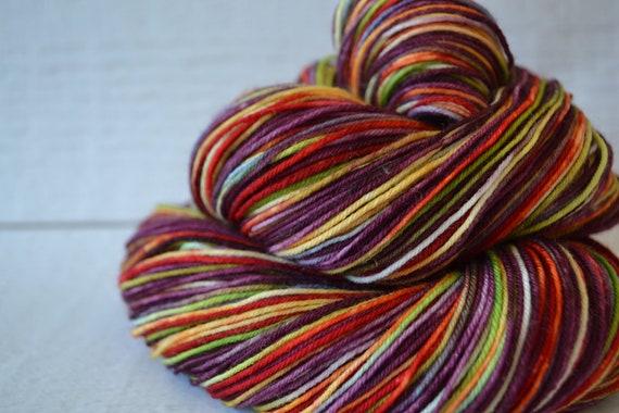 Plum Rainbow-  sock/ fingering yarn - Yarn Loft