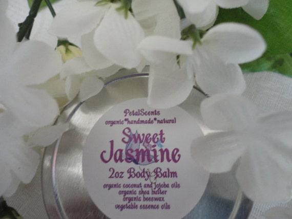 Sweet Jasmine Foot and Body Balm - 2oz tin - organic natural protective skincare - 50% Off Sale
