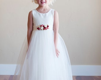 The Kew dress: Cotton flower girl dress, girls birthday dress, girls special occasion dress