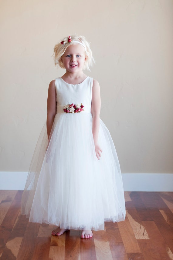 Items similar to The Kew dress: Cotton flower girl dress, girls ...