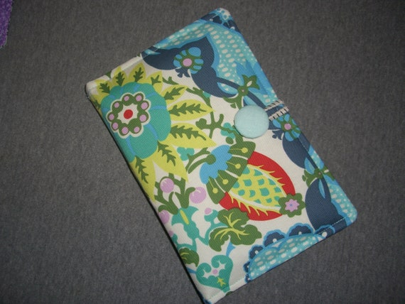 Kindle Touch, Kindle Paperwhite, Kindle 4 No Keyboard ONLY Case Cover - Amy Butler Fabric