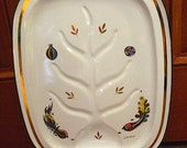 Price Reduced by 10.00 -- Georges Briard Enameled Carving Tray With Gravy Well