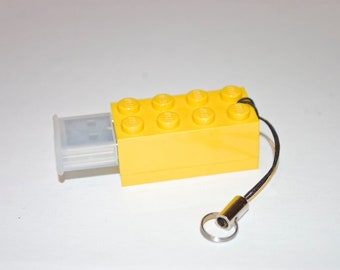 128GB Yellow Brick USB Flash Drive with tiny lanyard