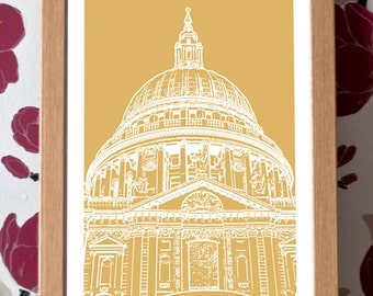St Paul's Cathedral Poster – London Icons Custom Colour A3 Travel Print