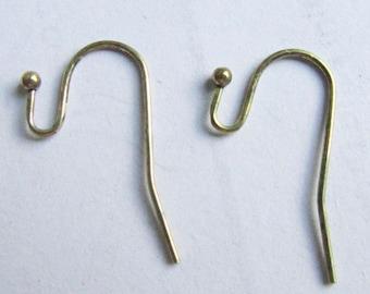 Earwires -100pcs Antique Bronze Brass French Earwire Ball End Earring Hook 16mm