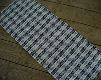 Quilted Table Runner - Blue and White Victorian Print