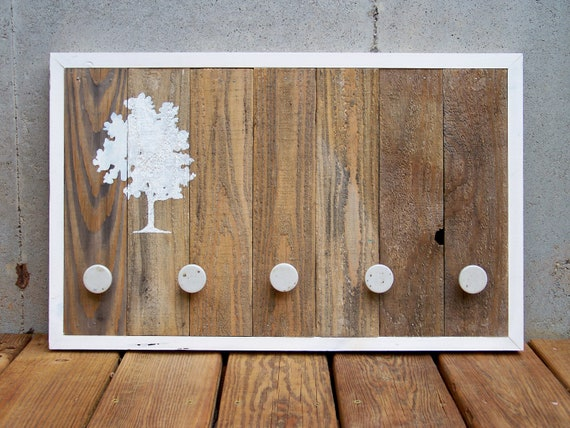RESERVED for Karah W - Reclaimed Wood Tree Coat Rack