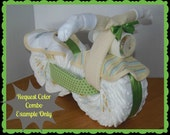Diaper Cake - Diaper Motorcycle - Baby Shower Gift - Gender Neutral - Baby Shower Centerpiece