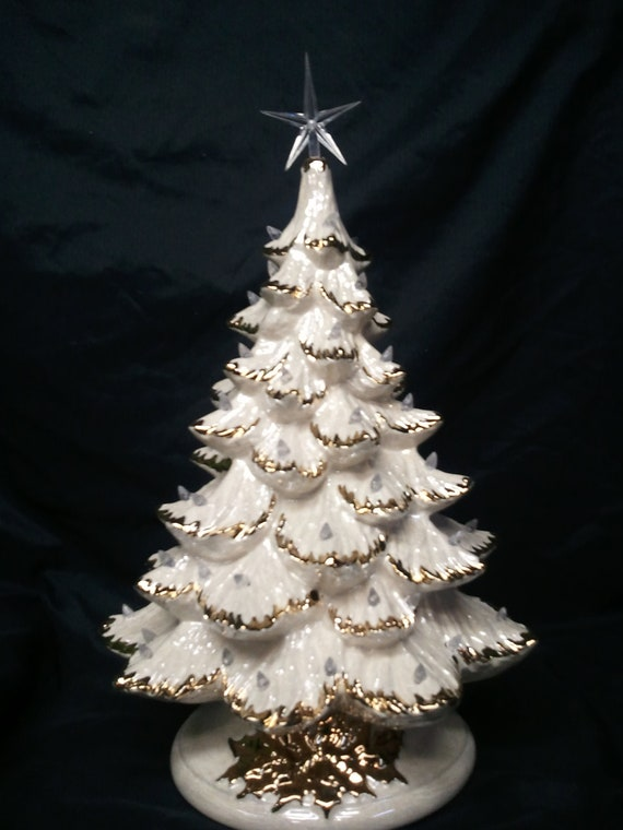 Gold or Silver Tips-1921 Tall Full Christmas by CeramicsbyKimi