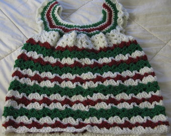girl's crochet dress, handmade crochet dress