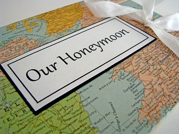 Wedding Honeymoon Map Photo Album - Custom Made for Laura