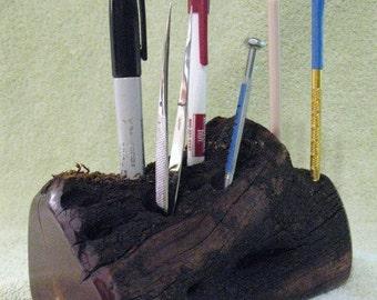 Manzanita Naturally Shaped Tool, Pen, Pencil Holder Wooden Display