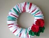 Made to Order-Yarn Wreath Handmade Felt Decoration-12 inch