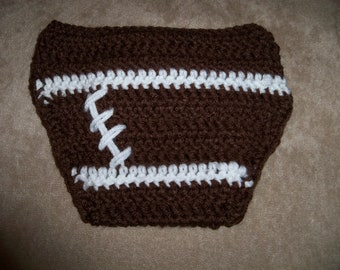 Crocheted baby Football Diaper Cover Any Team Any Color Combination