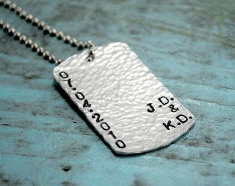 SALE Date & Initial dog tag