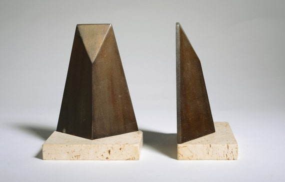 Vintage Mid Century Modern W. Macowski bookends