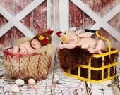 NEW ITEM 10ft x 8ft Old Red Barn Doors / Vinyl Photography Backdrop Floordrop Newborn photos