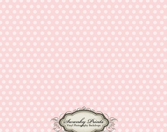 PRODUCT 2ft x 2ft Vinyl Photography Backdrop / Pink Polka Dots
