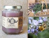 Organic Lavender Raw Honey. Wedding favor, summer ice honey tea, flavored honey