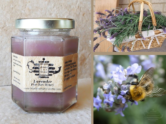 Organic Lavender Organic Lavender Raw Honey